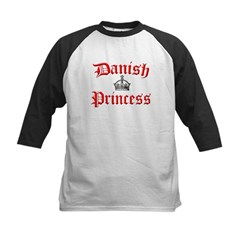 Danish Princess Kids Baseball Jersey