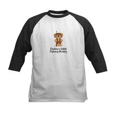 Daddy's Fishing Buddy Kids Baseball Jersey