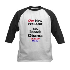 Mr. President Inauguration Obama Kids Baseball Jersey