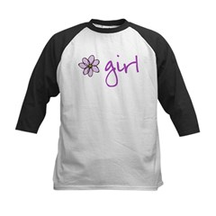 Flower Girl - Purple Kids Baseball Jersey
