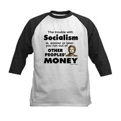 Thatcher Socialism Quote Kids Baseball Jersey