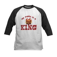 Daddy is a BBQ King Kids Baseball Jersey