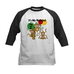Monkey 2nd Birthday Kids Baseball Jersey