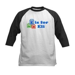 Baby Name Blocks - Eli Kids Baseball Jersey
