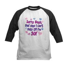 Sorry Boys Kids Baseball Jersey