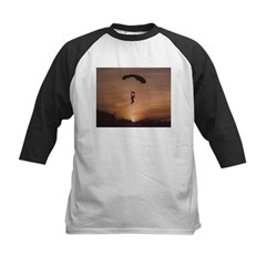 Sunset Skydiver Kids Baseball Jersey