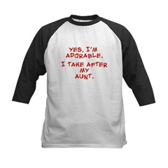 adorable like my aunt Kids Baseball Jersey