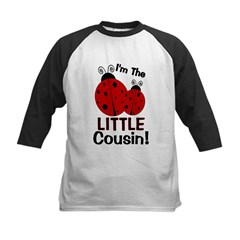I'm The LITTLE Cousin! Ladybu Kids Baseball Jersey
