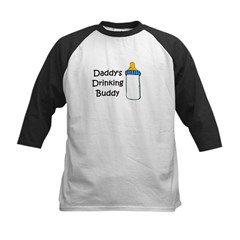 Daddy's Drinking Buddy Kids Baseball Jersey