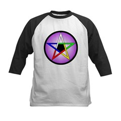 Elemental Pentacle Baby Creeper - 5 Elements Kids Baseball Jersey