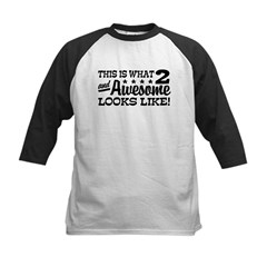 Funny Two Year Old Kids Baseball Jersey