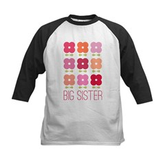 Big Sister Flowers Kids Baseball Jersey