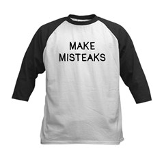 Make Misteaks Kids Baseball Jersey
