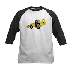 Backhoe Kids Baseball Jersey