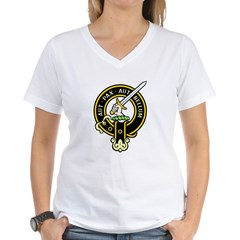 Clan Gunn black Women's V-Neck T-Shirt