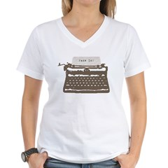 Typewriter Women's V-Neck T-Shirt