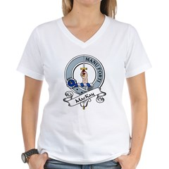 MacKay Clan Badge Women's V-Neck T-Shirt