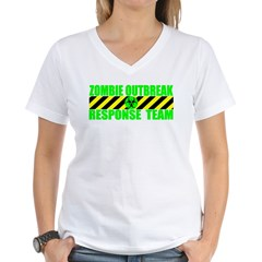 Zombie Outbreak Response Team Women's V-Neck T-Shirt