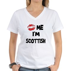 Kiss Me I'm Scottish Women's V-Neck T-Shirt