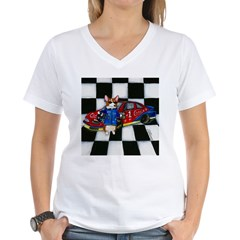 Start Your Engines! Women's V-Neck T-Shirt