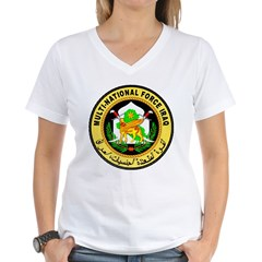 Iraq Force Women's V-Neck T-Shirt
