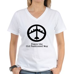Peace the Old Fashioned Way Women's V-Neck T-Shirt