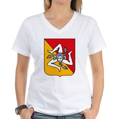 Sicily Coat of Arms Women's V-Neck T-Shirt