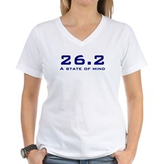 26.2 state of mind Women's V-Neck T-Shirt
