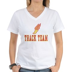 Track Team Women's V-Neck T-Shirt
