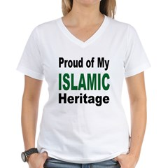 Proud Islamic Heritage Women's V-Neck T-Shirt