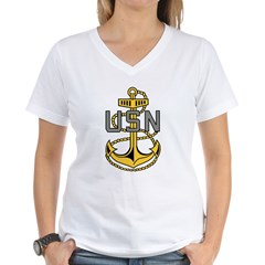 Chief Petty Officer<BR> Tank Top 4 Women's V-Neck T-Shirt