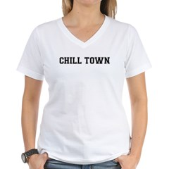 Chill Town Women's V-Neck T-Shirt