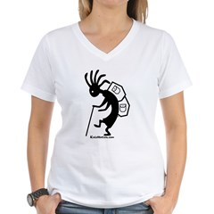 Kokopelli Backpacker Women's V-Neck T-Shirt