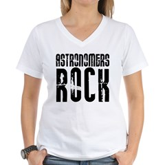 Astronomers Rock Women's V-Neck T-Shirt