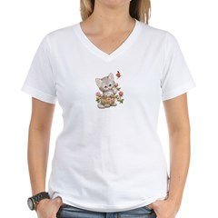 Lovely Kitty Women's V-Neck T-Shirt
