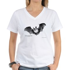 long_eared_bat.jpg Women's V-Neck T-Shirt