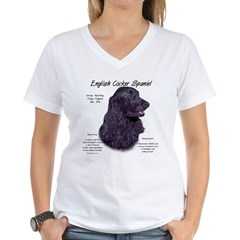 Black English Cocker Spaniel Women's V-Neck T-Shirt