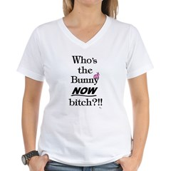 Who's the Bunny Women's V-Neck T-Shirt