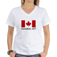 Canadian, eh? Women's V-Neck T-Shirt