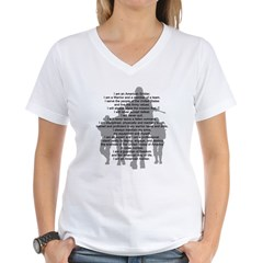 Soldier's Creed, National Gua Women's V-Neck T-Shirt