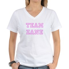 Pink team Zane Women's V-Neck T-Shirt