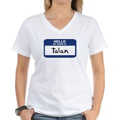 Hello: Talan Women's V-Neck T-Shirt