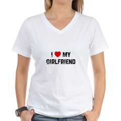I * My Girlfriend Women's V-Neck T-Shirt