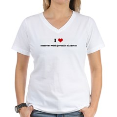 I Love someone with juvenile Women's V-Neck T-Shirt