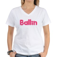 Ballin for Girls Women's V-Neck T-Shirt