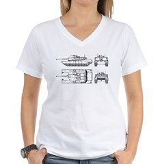 M1-A1 Tanker - Women's V-Neck T-Shirt