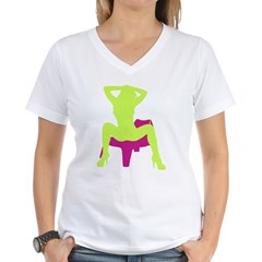 Sexy Women's V-Neck T-Shirt