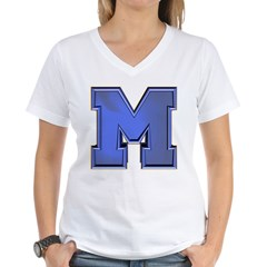 M Go Blue Women's V-Neck T-Shirt