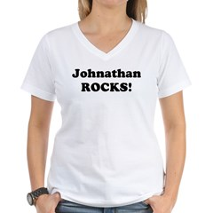 Johnathan Rocks! Women's V-Neck T-Shirt