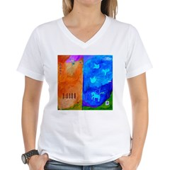 Night Fall Freedom Women's V-Neck T-Shirt